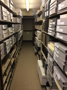 Milwaukee-Downer College aisle, LU Archives