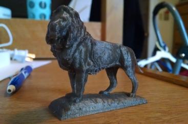 Art Institute Lion by Cora Williams