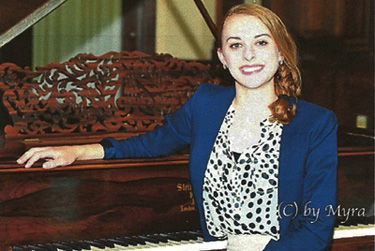 Piano performance major Casey Kadlubowski performs a free recital July 8 in Menomonie, Mich.