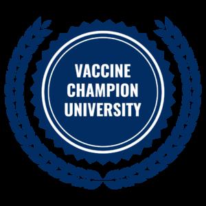 Vaccine Champion University graphic