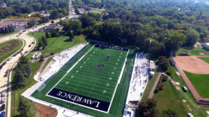 Ron Roberts Field at the Banta Bowl was honored with an award from the American Sports Builders Association.