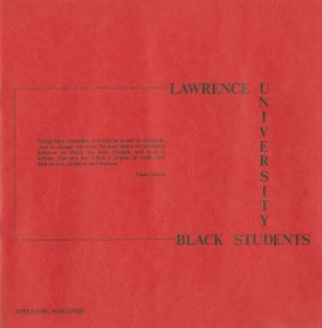 Lawrence University Black Students brochure cover