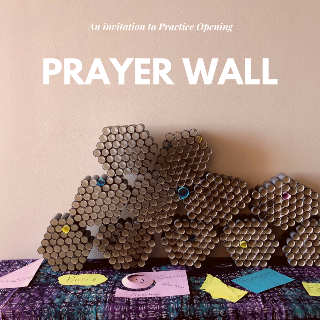image of what the prayer wall looks like.