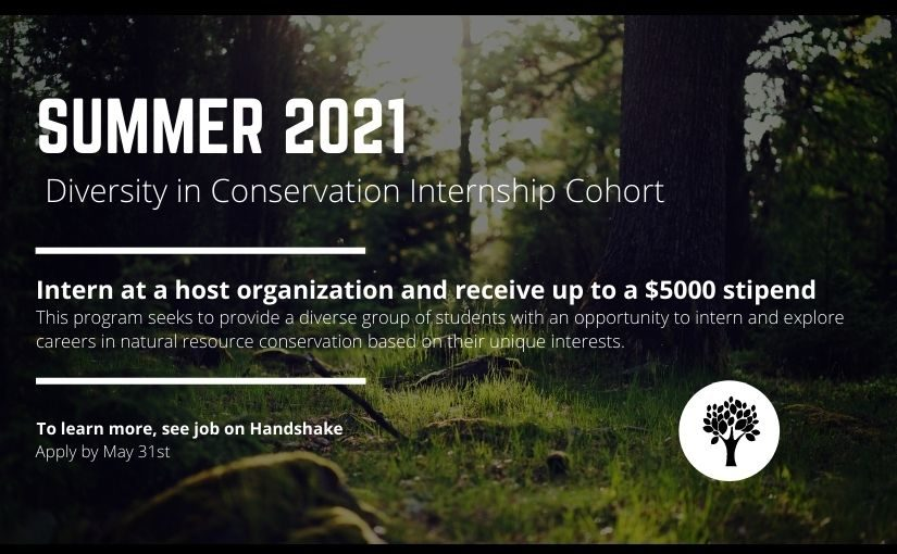 Opportunity Knocks from the Career Center – Student Diversity in Conservation Internship