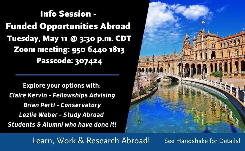 Info Session:  Funded Opportunities Abroad