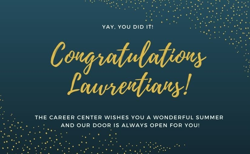 Congratulations from the Career Center!