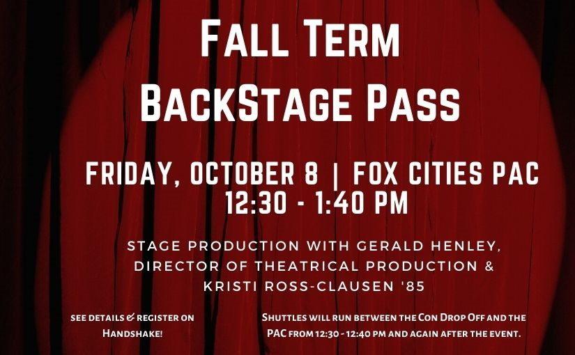 Fall Term Backstage Pass
