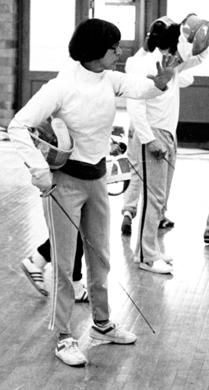 A nationally ranked fencer in her own right, Mary Poulson coached Lawrence's men's and women's fencing team and helped it gain varsity status during her tenure.