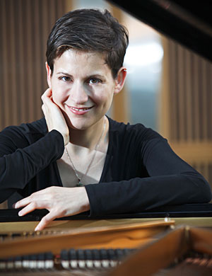 A photo of pianist Anna Polonsky.