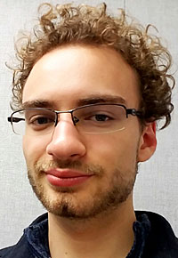 A Head shot of Lawrence University student Derrick Hahn.