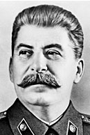 A Head shot of Joseph Stalin.
