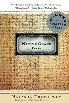 "A photo of the cover of the book of poems ""Native Guard"" by Pulitzer Prize-winning poet Natasha Trethewey."
