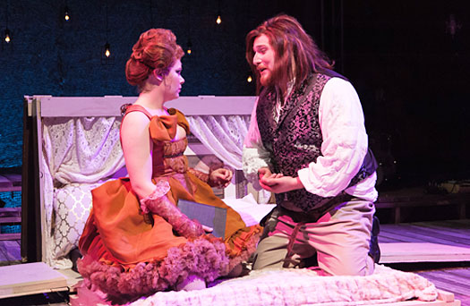 "A photo of Lawrence University students in the university's opera production ""The Beggar Opera."""