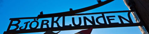 A photo of the Björklunden sign.