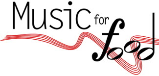 A photo of Music of Food banner.