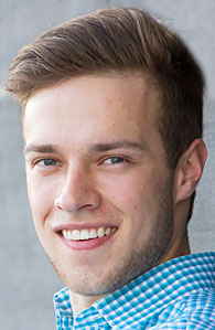 A Head shot of Lawrence University student Nick Fahrenkrug.