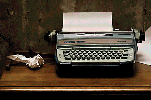 A photo of a typewriter.