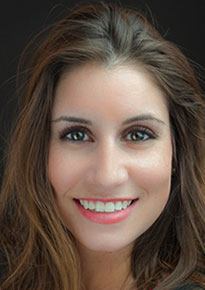 A Head shot of Lawrence University social media director Kasey Corrado.