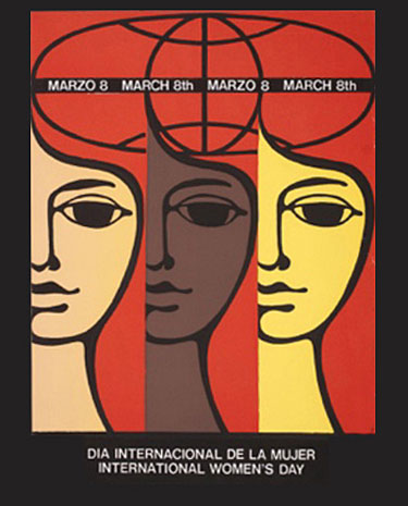 A poster of International Women's Day.