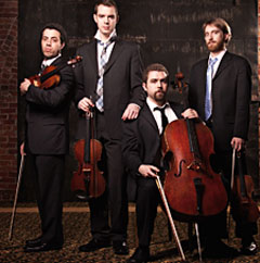 A photo of the musical quartet JACK Quartet
