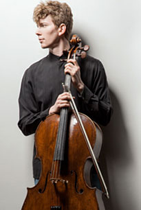 A photo of cellist Joshua Roman.