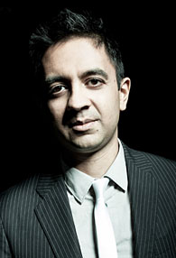 A photo of pianist Vijay Iyer