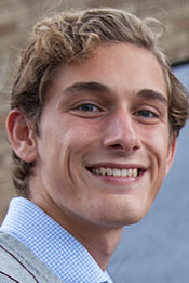 headshot of Lawrence student Max Loebl