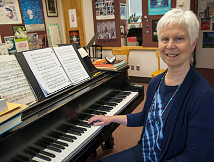 Bonnie Koestner in her classroom