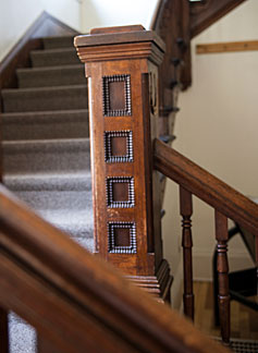 stairway banister detail