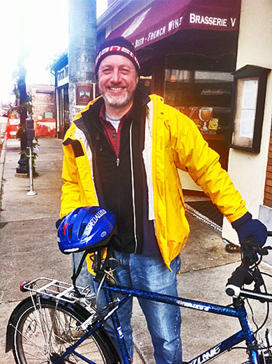 Dave Cieslewicz with bicyle