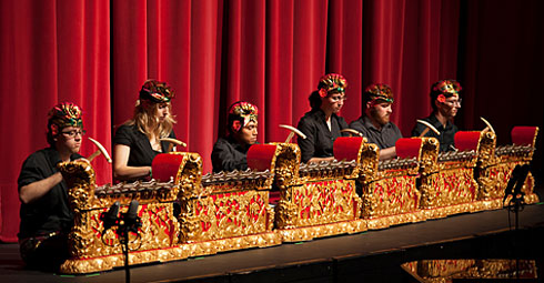 Lawrence gamelan at Kaleidscope concert