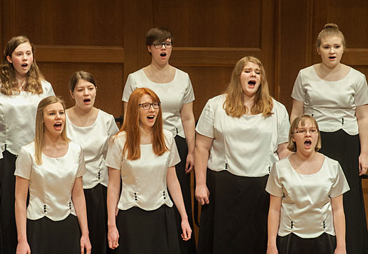 Girl Choir singers performing