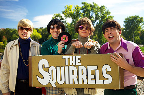 Group photo of the band Bucky and the Squirrels