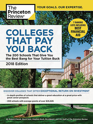 Book cover: Colleges that Bay you Back