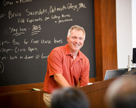 John List in a classroom