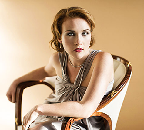Sasha Cooke sitting in chair