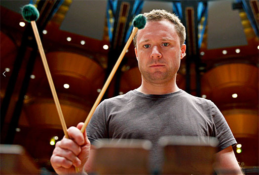 Colin Curie with mallets