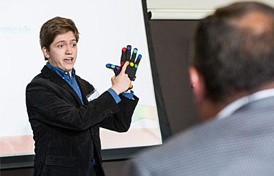 Brian Minorer making his pitch presentation