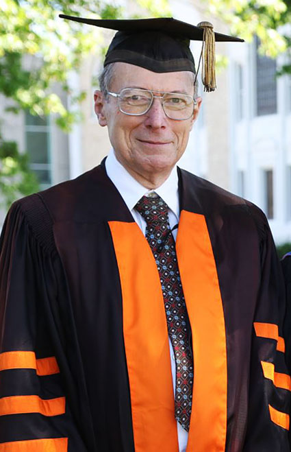 James Evans at 2011 commencement ceremonies