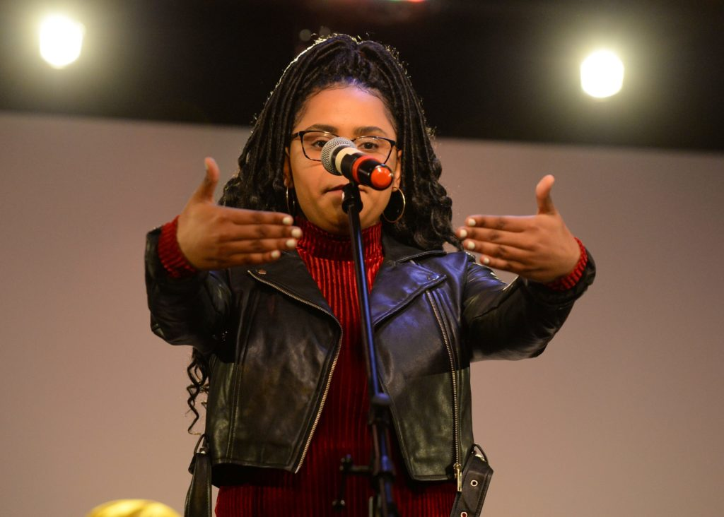Ann Pyram performs during Cultural Expressions.