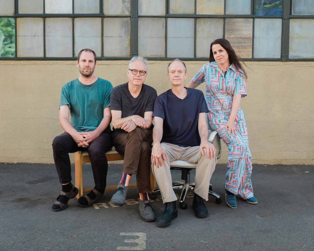 Portrait of Bill Frisell with Hank Roberts, Luke Bergman and Petra Haden