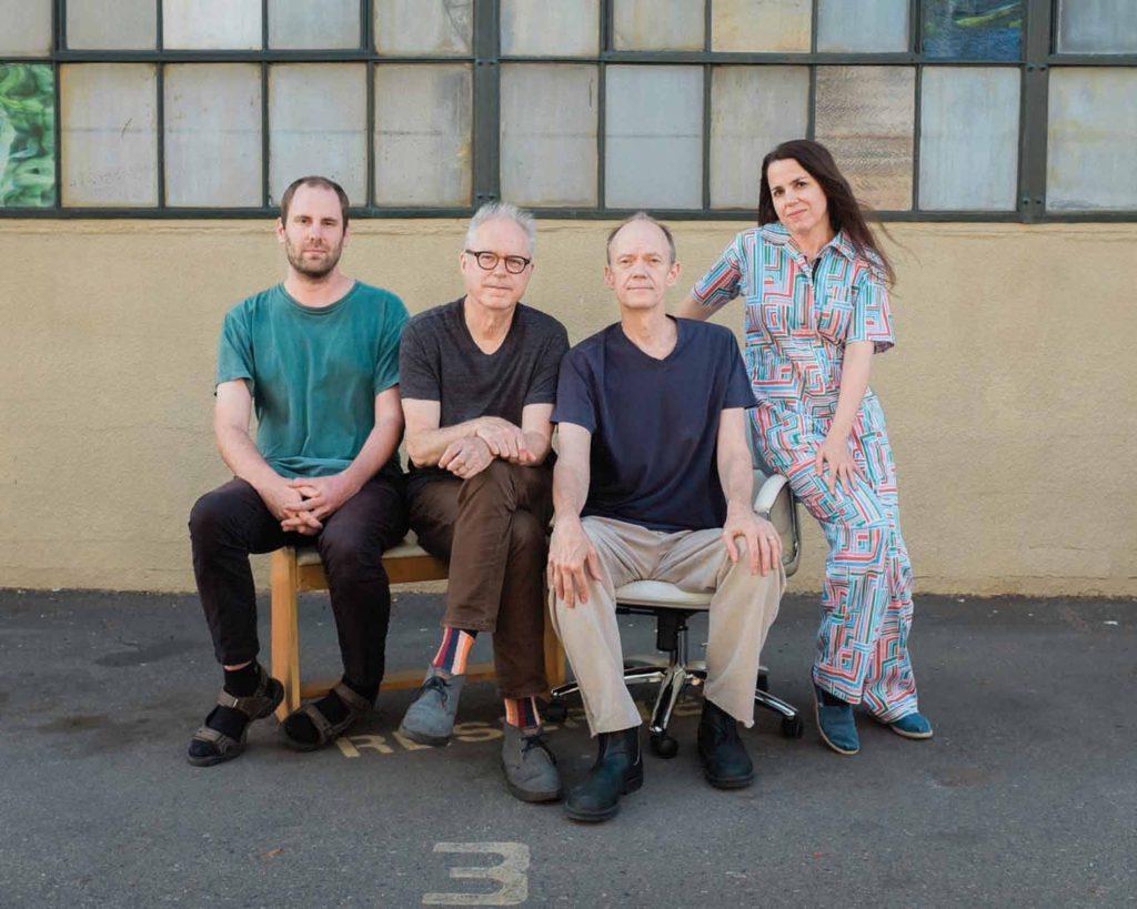 Portrait of Bill Frisell with Hank Roberts, Luke Bergman and Petra Haden