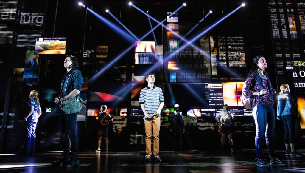 "Publicity photo of ""Dear Evan Hansen"" performance."