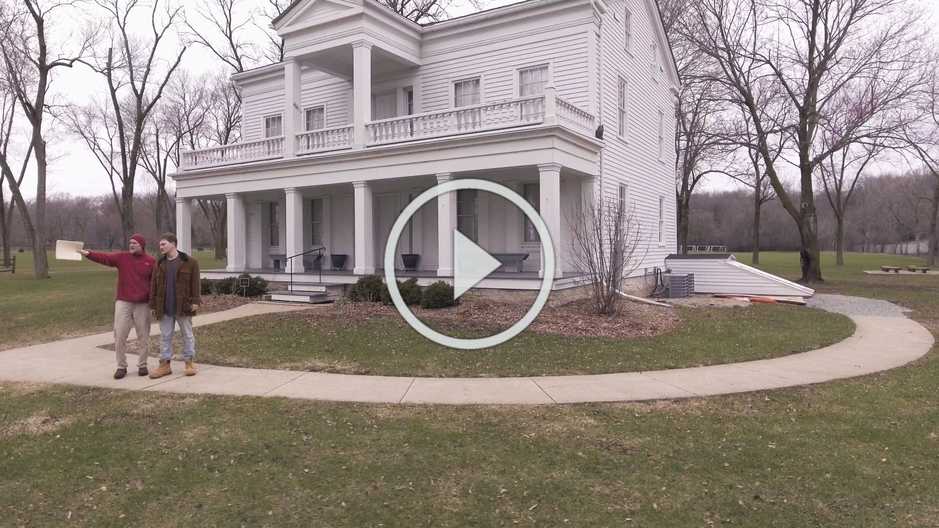 Link to video of Peter N. Peregrine and Winston Klapper on the Grignon Mansion property.