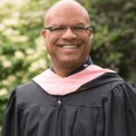 Portrait of Jose Encarnacion at Commencement.