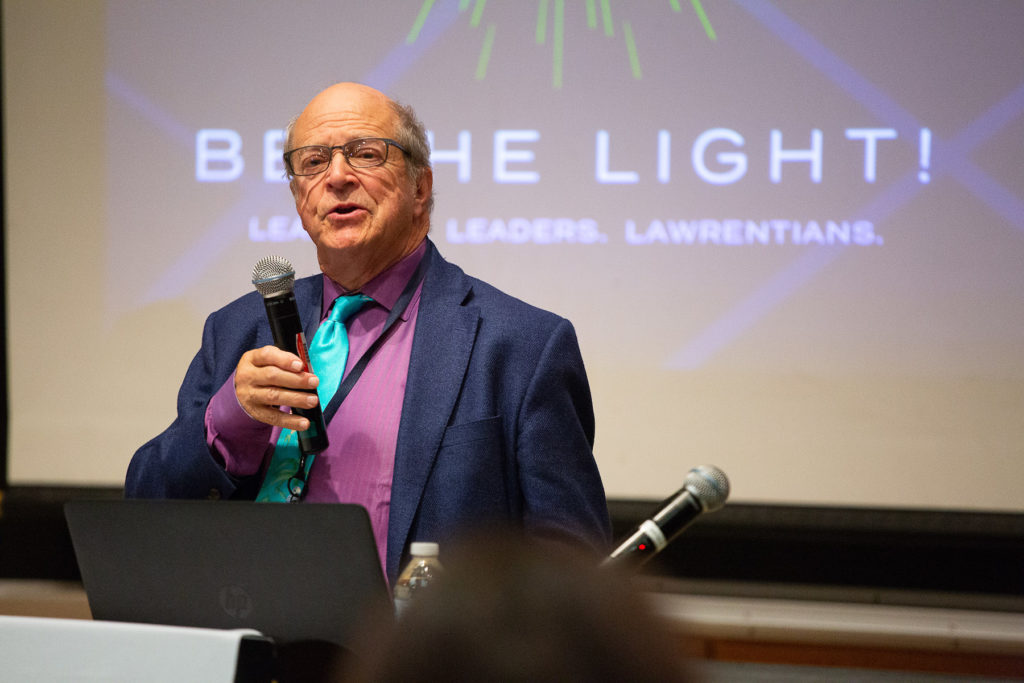 J. Thomas Hurvis '60 speaks during November's public launch of the Be the Light campaign.