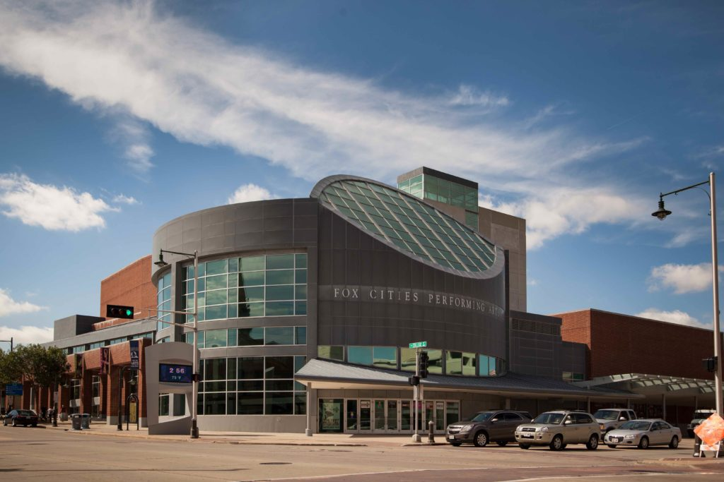 The Fox Cities Performing Arts Center as seen from College Ave.