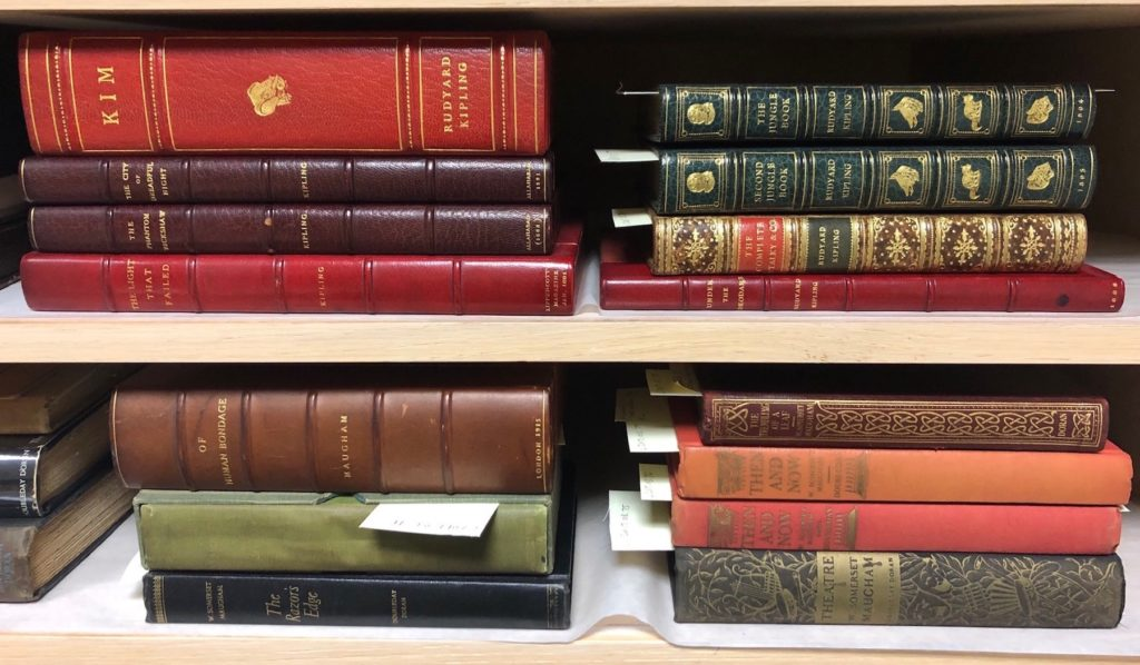 Some of the 220-plus rare books are seen on the shelves at the Wriston Art Center.