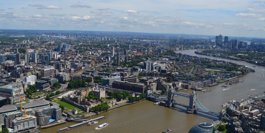 Aerial photo of London.