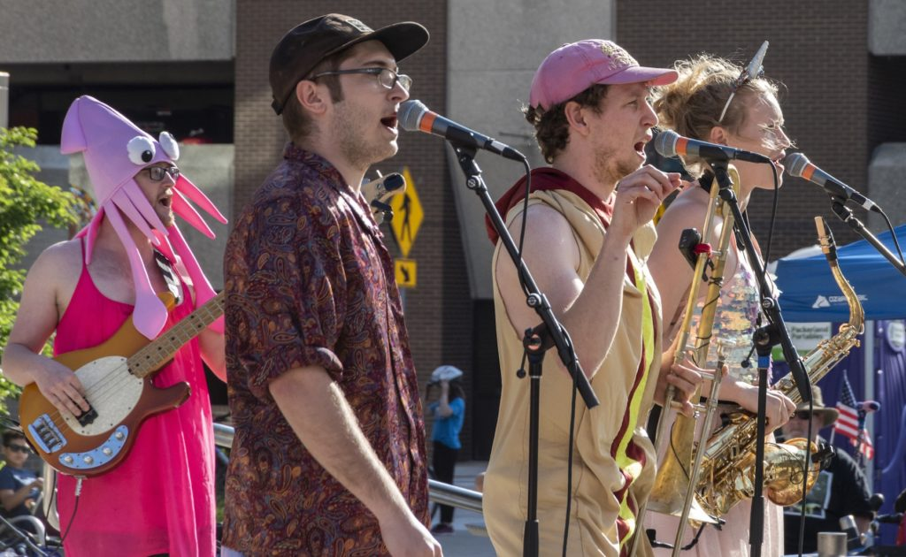 Porky's Groove Machine performs in downtown Appleton.